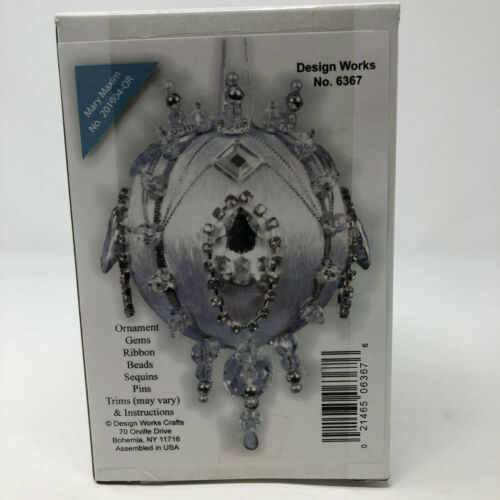 Mary Maxim Diamond Teardrop Medallion Beaded Ornament Kit No 6367 New Sealed