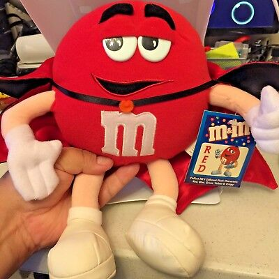 NEW WITH TAGS RED  M&M PLUSH 12