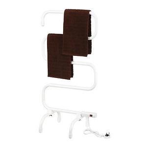 Vonhaus portable electric bathroom towel radiator heater warmer heated rail ebay for Electric heated towel rails for bathrooms