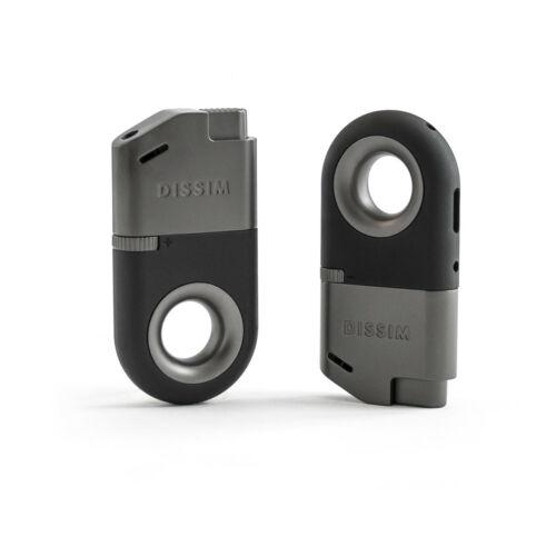 DISSIM Inverted Soft Flame Lighter Black/Gunmetal - ILBLK (NEW ITEM)