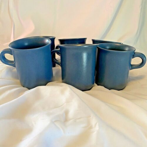 Set of 6 Dansk MESA BLUE SKY Stoneware Coffee Mugs