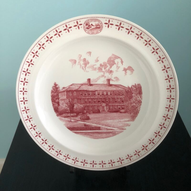 "PHILLIPS EXETER ACADEMY PLATE ""The Lamont Infirmary"" WEDGWOOD, 1956"