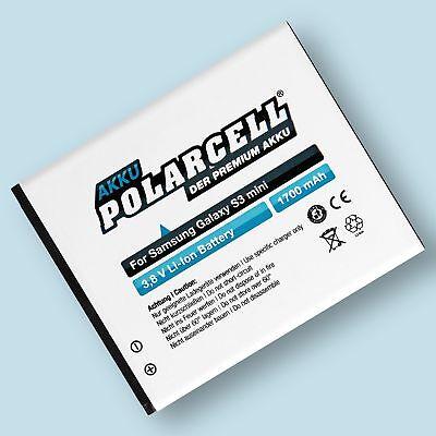 PolarCell Akku für Samsung Galaxy S3 mini GT-i8190 Galaxy Ace 2 i8160 EB-F1M7FLU