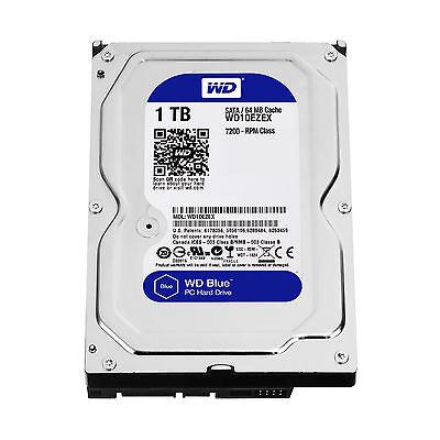 Western Digital Blue 1TB 3.5 7200 RPM SATA 6 Gb/s 64MB Hard Drive WD10EZEX
