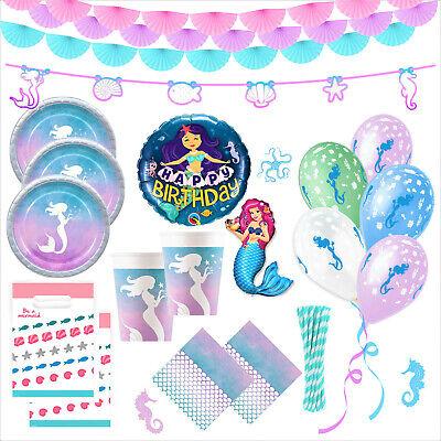 Meerjungfrau Geburtstag Party Deko Set 53-tlg. Kindergeburtstag Meerjungfrauen (Junge Geburtstag Party)