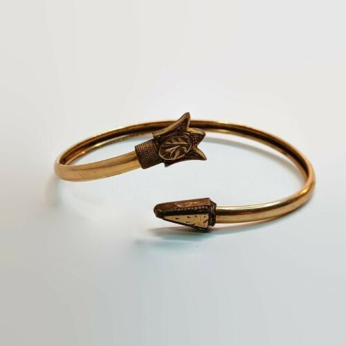 Vintage Victorian Gold Filled Bypass Bracelet
