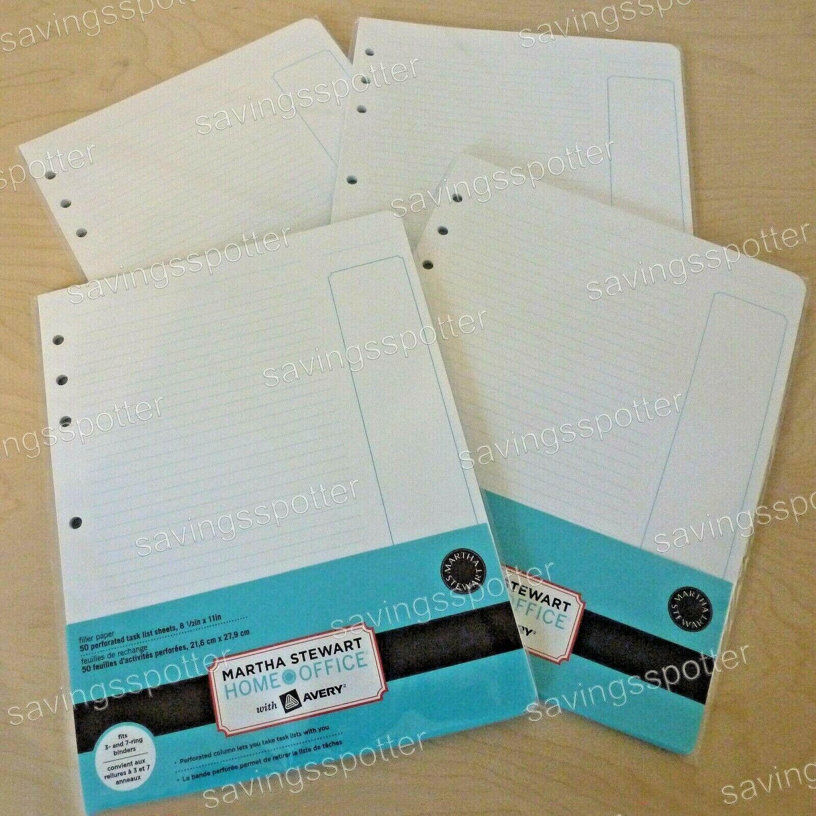 Martha Stewart Office Avery Filler Paper 8.5 X 11 Binder 7