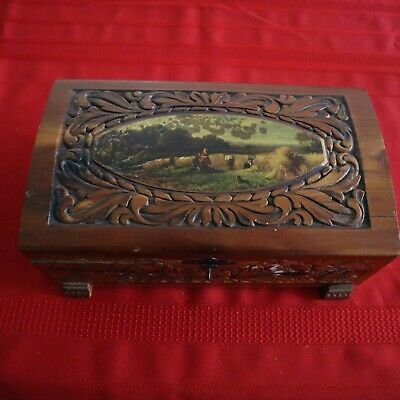 Jewelry Box Trinket Box with Hidden Compartments for Storage Sea Horse Wooden Puzzle Box Collectible Wood Animal Figurine with Drawer