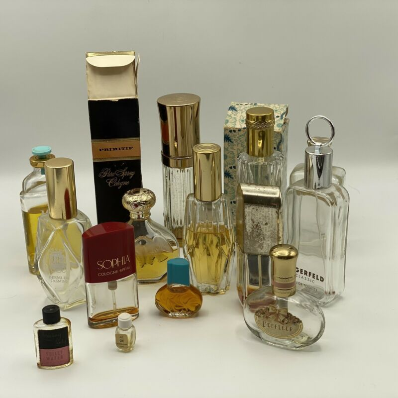 Vintage Perfume And Empty Bottles  - lot of 12