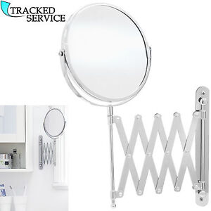 extending magnifying bathroom mirror extending wall mounted mirror bathroom cosmetic 18259