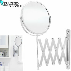 Extending Wall Mounted Mirror Bathroom Cosmetic Shaving Mirror Magnifying Makeup Ebay