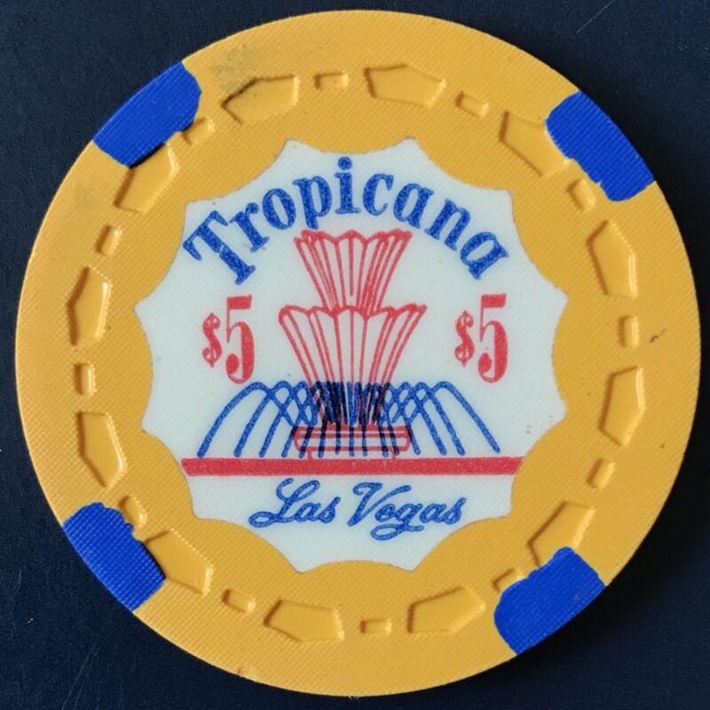 $5 Tropicana Casino Chip - Las Vegas, Nevada - Vintage, RARE!