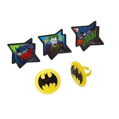 Batman - Pow Whooshhh and Joker - Cupcake Rings - 24 ct by Deco... Free Shipping