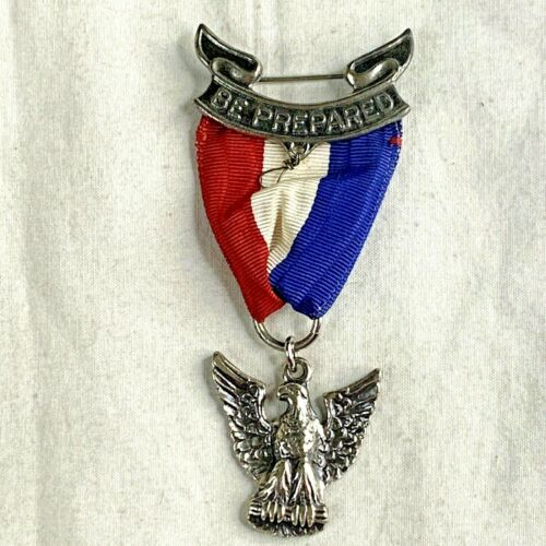 Boy Scouts Of America Eagle Scout Medal Sterling Silver Vintage BSA