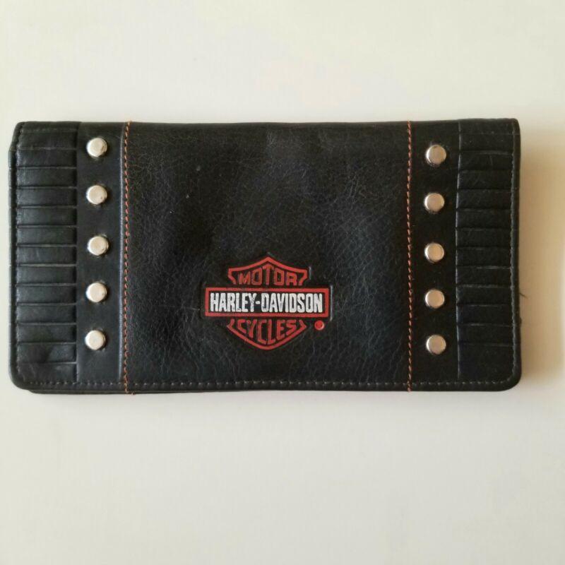 Genuine Harley Davidson Leather Checkbook Cover