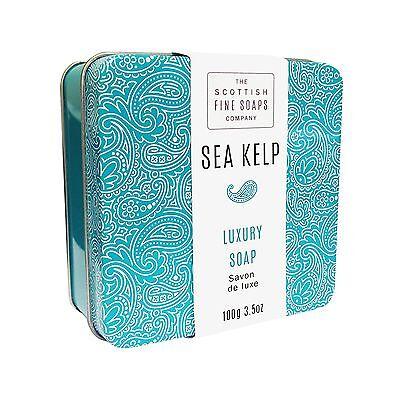 Scottish Fine Soaps Luxury Soap Sea Kelp Soap In A Tin 100G 3 5Oz