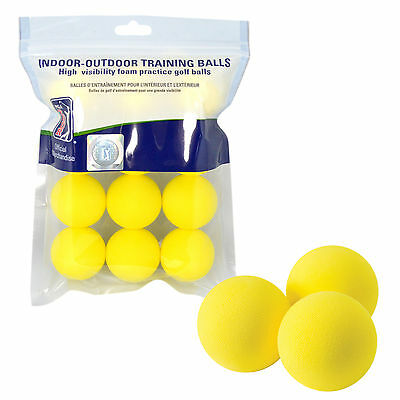 24 Golf PU Dimple Foam Golf Balls New Dozen Practice Yellow Sponge Free Delivery