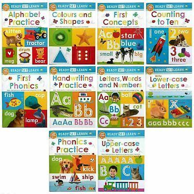Pre-School / Reception Ready Set Learn 10 wipe clean books set NEW!!!