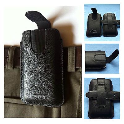 LG L90 Dual D410 / ASSEM echt leder Gürteltasche Handy Tasche Hülle Etui case (Lg L90 Handy-hülle)