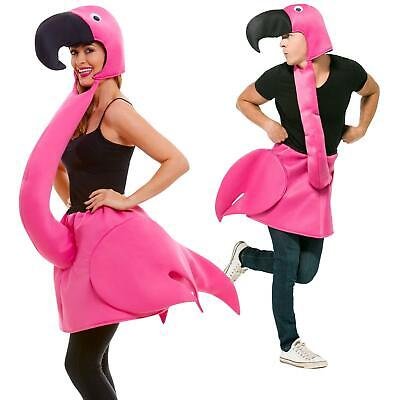 Adult's Pink Flamingo Funny Animal Summer Fancy Dress Costume Men's Women's