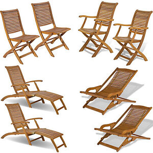 Sedie sdraio e lettini arredo giardino in legno balau per for Offerta sedie legno