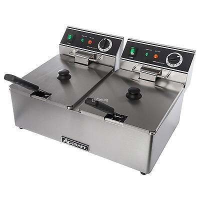 Adcraft Df-6l2 Double Countertop Electric Deep Fryer