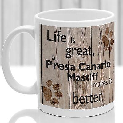Presa Canario Mastiff dog mug, ideal present for dog lover