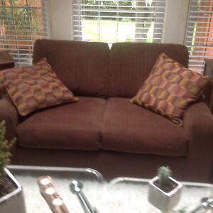 SKLAR PEPPLER COUCH AND CHAIR - LIKE NEW