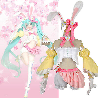 Vocaloid Hatsune Miku Bunny Girl Anime Cosplay Costume Sexy Fancy Suit Outfits