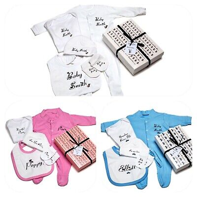 Baby Girl Showers (Baby PERSONALISED BABY GIFT boys girl unisex baby shower babygrow Gift Box)