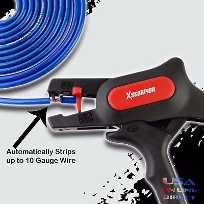 Automatic Multi-gauge Adjustable Wire Cable Stripper Cutter Up To 10 Awg Wire