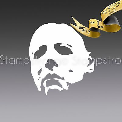 2 Inch tall Michael Myers mask Vinyl Decal Sticker Die Cut HALLOWEEN Misfits (Misfits Halloween Mask)