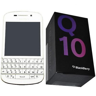 Used, BNIB Blackberry Q10 SQN100-3 White 16GB AZERTY KEYPAD Factory Unlocked 4G OEM for sale  Shipping to Nigeria