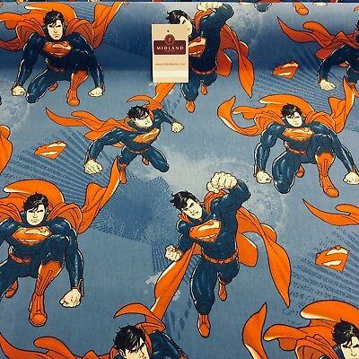 100% Cotton Dc Marvels Comic Superman Bedruckt Handwerk Stoff 147cm Breit MH869