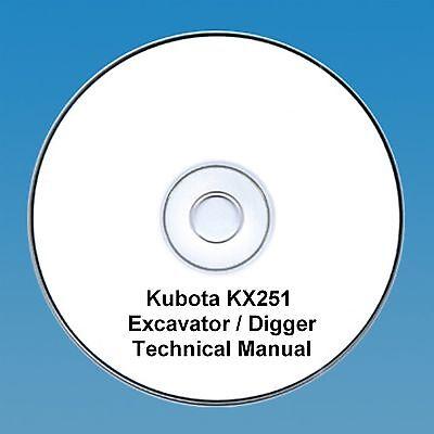 Kubota KX251  Excavator / Digger - Workshop Manual.