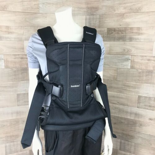 Baby Bjorn one Air Carrier multi-carrying positions mesh black newborn-toddler