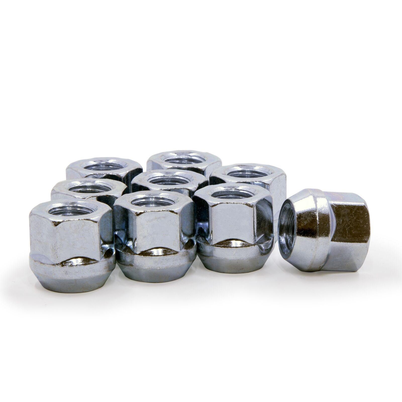 "1 Lug Nut Bulge Acorn 12x1.5 Chrome Wheel Nuts 3//4/"" Hex"