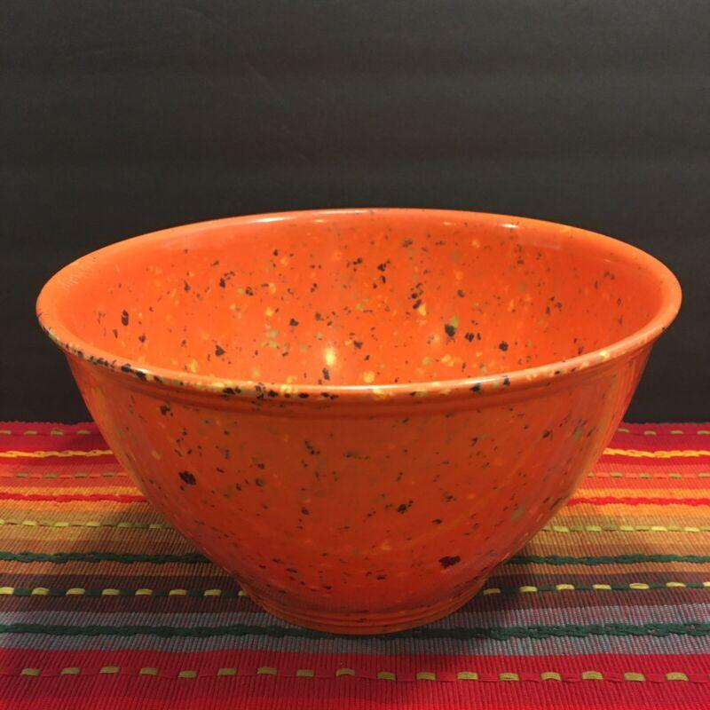 "Rachel Ray Melamine ORANGE 10"" CONFETTI Speckled Mixing Bowl-Excellent!!"