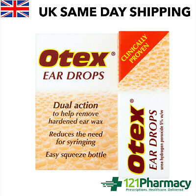 OTEX 8ml Ear Drops - Dual action | to help remove hardened ear wax | reduces the