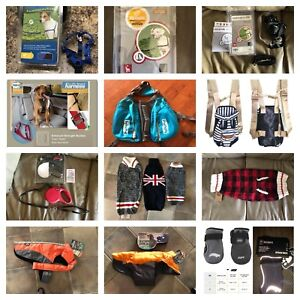 New!! Pet clothing, harnesses and leashes