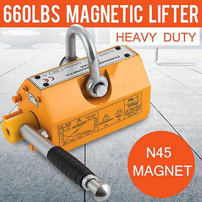 300kg Steel Magnetic Lifter Heavy Duty Crane Hoist Lifting Magnet 660lb
