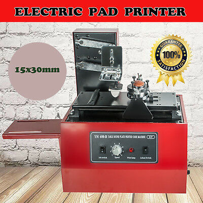 Usa Electric Pad Printer Printing Machine T-shirt Ball Pen Desktop Press Oil Ink