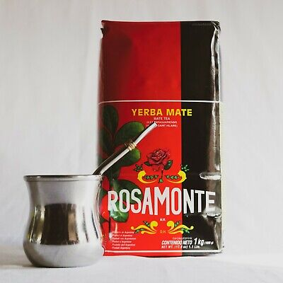 Rosamonte Yerba Mate Kit (with Gourd and Bombilla) - Free Shipping
