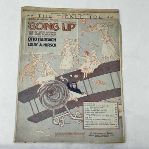 THE TICKLE TOE Louis Hirsch Airplanes 1918 vtg sheet music