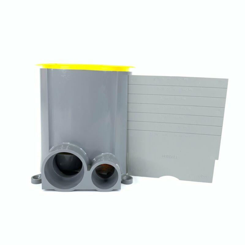 Hubbell S1pfb Plastic Rnd 1 System Floor Box