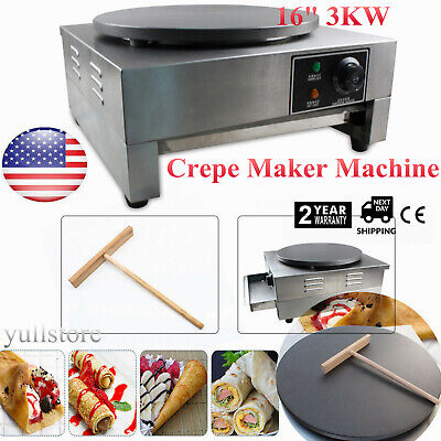 16 3kw Commercial Electric Single Crepe Makerkitchen Pancake Machine Nonstick