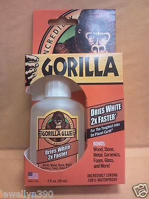 Incrediblystrong Gorilla Glue 2oz Dries White 2x Faster 100 Waterproof New