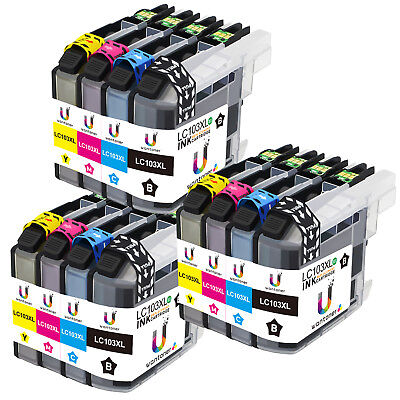 12 Multi-Pack LC103XL Ink Cartridge for Brother MFC-J470DW MFC-J475DW MFC-J870DW Compatible Multi Pack Ink