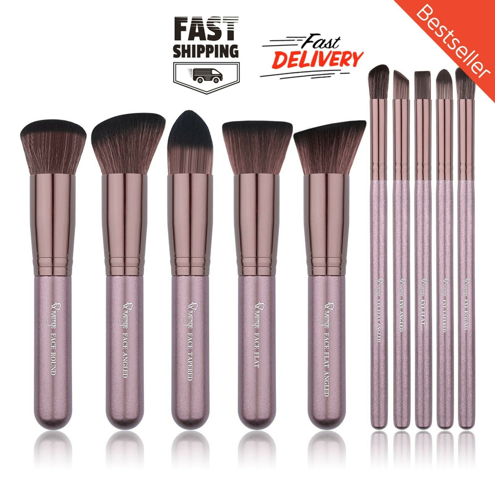 makeup brush set kabuki soft foundation bronzer