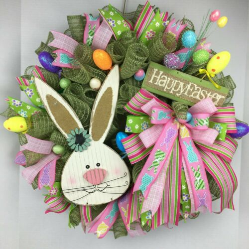 """HAPPY EASTER BUNNY!""  24"" WREATH"